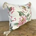 1950-60s English large-scale magnolia cotton cushion - picture 2