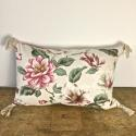 1950-60s English large-scale magnolia cotton cushion - picture 5