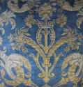 Circa 1950s French blue velvet large cushion - picture 2