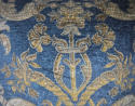 Circa 1950s French blue velvet large cushion - picture 3