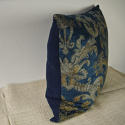 Circa 1950s French blue velvet large cushion - picture 6