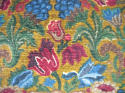 Circa 1950s French floral cotton velvet cushion - picture 2