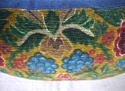 Circa 1950s French floral cotton velvet cushion - picture 5