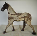 19th century French painted toy horse with iron head - picture 2