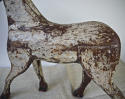 19th century French painted toy horse with iron head - picture 3