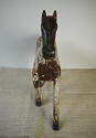 19th century French painted toy horse with iron head - picture 4