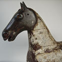 19th century French painted toy horse with iron head - picture 5