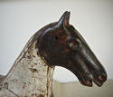 19th century French painted toy horse with iron head - picture 6