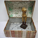 Early 19th century  French wallpaper covered box - picture 2