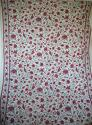 Early 20th century French birds and flowers linen - picture 1