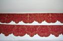 Pair of 18th century French silk damask pelmets - picture 1