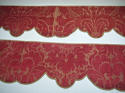 Pair of 18th century French silk damask pelmets - picture 3