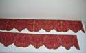 Pair of 18th century French silk damask pelmets - picture 4