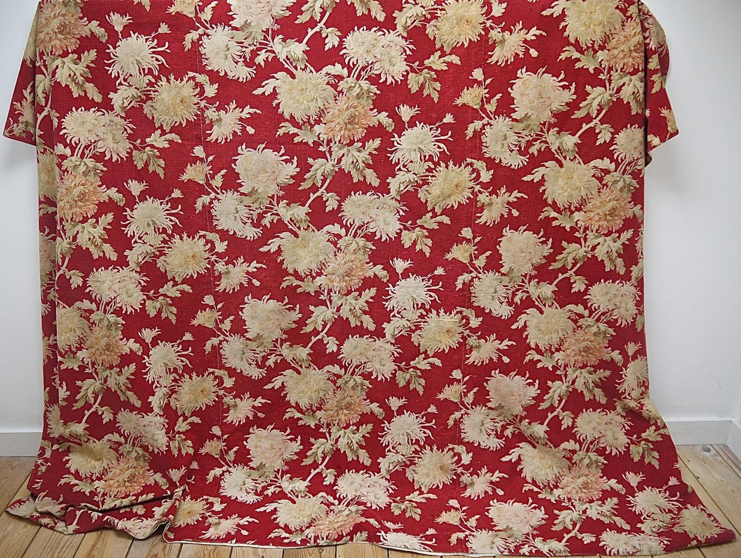 Late 19th century French Large-scale cotton throw