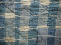 Late 18th century French indigo flamme and floral quilt - picture 11