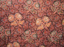 Late 18th century French indigo flamme and floral quilt - picture 5