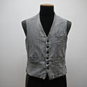 1900s French workwear grey cotton waistcoat - picture 1
