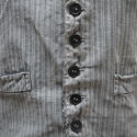 1900s French workwear grey cotton waistcoat - picture 2