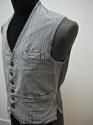 1900s French workwear grey cotton waistcoat - picture 3