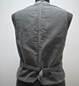 1900s French workwear grey cotton waistcoat - picture 4