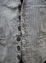 1900s French workwear grey cotton waistcoat - picture 5