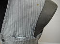 1900s French workwear grey cotton waistcoat - picture 6