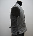 1900s French workwear grey cotton waistcoat - picture 7