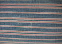 19th century French faded indigo striped cotton cushion - picture 2