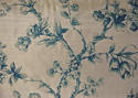 Mid-20th century blue floral on bronze silk cushion - picture 2