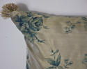 Mid-20th century blue floral on bronze silk cushion - picture 3