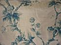 Mid-20th century blue floral on bronze silk cushion - picture 5