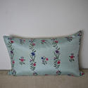 18th century Chinese hand-painted flowers cushion - picture 1