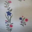 18th century Chinese hand-painted flowers cushion - picture 3