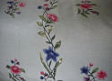 18th century Chinese hand-painted flowers cushion - picture 4