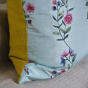 18th century Chinese hand-painted flowers cushion - picture 6