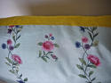 18th century Chinese hand-painted flowers cushion - picture 7