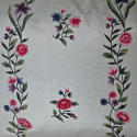 18th century Chinese hand-painted flowers silk cushion - picture 2