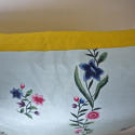 18th century Chinese hand-painted flowers silk cushion - picture 4