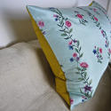 18th century Chinese hand-painted flowers silk cushion - picture 5