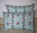 18th century Chinese hand-painted flowers silk cushion - picture 6