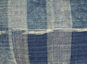 Early 19th century French indigo flamme/ikat cushion - picture 3