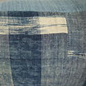 Early 19th century French indigo flamme/ikat cushion - picture 5
