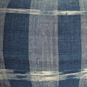 Early 19th century French indigo flamme/ikat cushion - picture 8