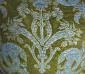 C.1950s French green velvet classical design cushion - picture 4