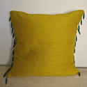 Early 19th century French saffron bourette silk cushion - picture 1