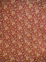 Circa 1800 French madder red and pastel large quilt - picture 1