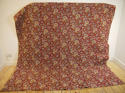 Circa 1800 French madder red and pastel large quilt - picture 2