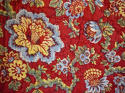 Circa 1800 French madder red and pastel large quilt - picture 3
