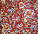 Circa 1800 French madder red and pastel large quilt - picture 5