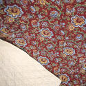 Circa 1800 French madder red and pastel large quilt - picture 7